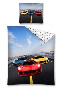 Komplet pościeli pościel RACING CARS 140 x 200 cm (2721)