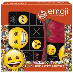 Zestaw bidon i śniadaniówka w kartoniku Emoji EMOTIKONY (ZSBEM11)