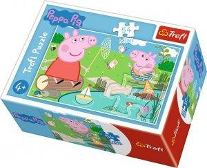 TREFL Puzzle mini 54 el. Świnka Peppa nad stawem (19625)