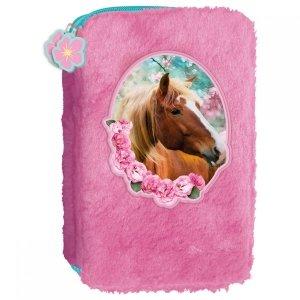 Piórnik dwukomorowy futrzak HORSE Konie (PPDFKO19)