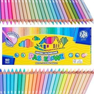 Kredki ołówkowe pastelowe 50 kolorów ASTRA XXL opak. 44,5 x 20 cm (312121004)