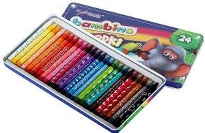 Kredki BAMBINO 24 kolory w metalowym pudełku (00195)