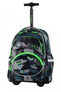 Plecak CoolPack STARR na kółkach w naszywki, BADGES B GREY (B35150)
