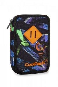 Piórnik CoolPack dwukomorowy z wyposażeniem JUMPER 2 w kolorowe wzory, GRUNGE TIME (B66035)