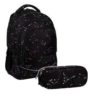 ZESTAW 2 el. Plecak szkolny młodzieżowy BackUP 26 L KONSTELACJE (PLB3X51SET2CZ)