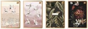 4x Zeszyt A5 80 kartek w kratkę METALIC SATIN GOLD mix (94227SET4CZ)