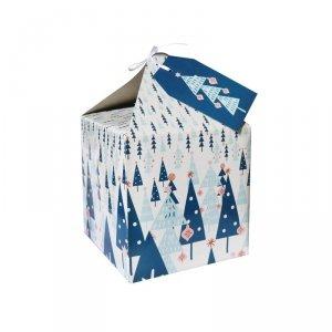 Pudełko prezentowe świąteczne na prezent 4 szt. CHOINKA Incood. ( 0115-0007)