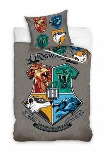 ZESTAW 3 el. Pościel bawełniana 140 x 200 cm + RĘCZNIK + PODUSZKA Harry Potter (HP201041SET3CZ)