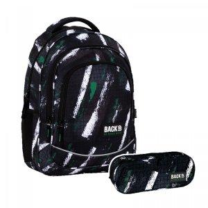 ZESTAW 2 el. Plecak szkolny młodzieżowy BackUP 26 L  pasy, GRID (PLB4X49SET2CZ)