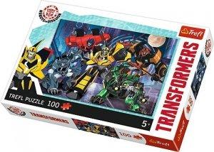 TREFL Puzzle 100 el. TRANSFORMERS, Drużyna Autobotów (16315)