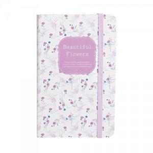 Notes na gumkę A6 Beautiful Flowers różowy (925034)
