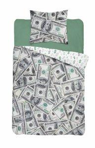 Pościel DOLARY $ 160 x 200 cm komplet pościeli (3624A)