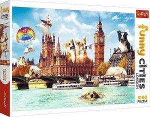 TREFL Puzzle FUNNY CITIES 1000 el. PSY W LONDYNIE (10596)