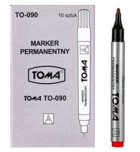 10x MARKER permanentny TOMA, czerwony (TO-090SET10CZ)