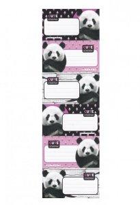 Nalepki naklejki na zeszyty STARPAK Panda 6 sztuk (447914)
