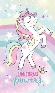 Ręcznik dziecięcy UNICORN Jednorożec Kucyk Pony (09T)