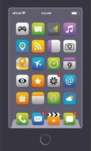 Ręcznik dziecięcy IPHONE smartfon 30 x 50 cm (WZ.11)