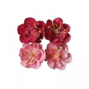 Kwiaty samoprzylepne  Craft Shop 4 szt.  INCOOD. (0037-0099)