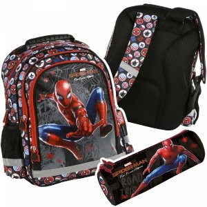 ZESTAW 2 el. Plecak szkolny Spiderman (PL15BPJ13SET2CZ)