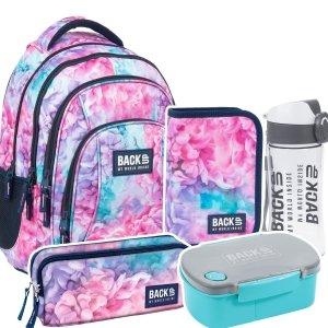 ZESTAW 5 el. Plecak szkolny młodzieżowy BackUP 26 L pastelowy, SOFT (PLB3A02SET5CZ)