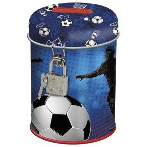 Skarbonka z kłódką FOOTBALL Piłka nożna (SKPI15)