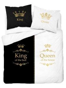 Pościel bawełniana 220 x 200 cm HOLLAND COLLECTION Queen & King komplet pościeli (3608A)
