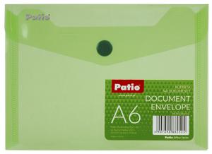 Teczka koperta transparentna na dokumenty A6 PATIO zielona (PAT6133A/N/15)