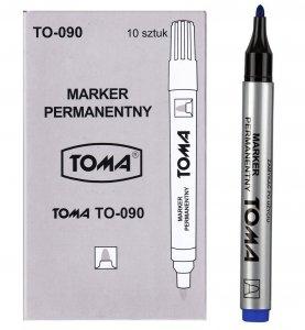 10x MARKER permanentny TOMA, niebieski (TO-090SET10CZ)