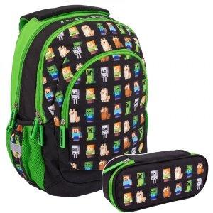 ZESTAW 2 el. Plecak szkolny 24 L Minecraft MULTI CHARACTERS (502021200SET2CZ)