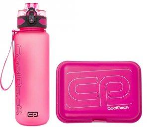 Zestaw bidon i śniadaniówka CoolPack BRISK FROZEN pink (93521CP+95242)