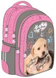 Plecak szkolny St. Majewski My Little Friend CAT & DOG Kotek i piesek BP58 (28467)