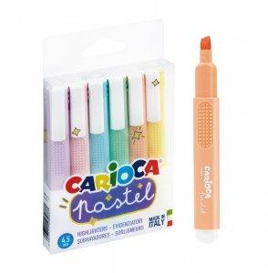 Zakreślacze pastelowe CARIOCA 6 kolorów  (43033)