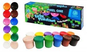 Farby plakatowe 12 kolorów 20 ml PIXEL dla fana gry MINECRAFT ASTRA (301221006)