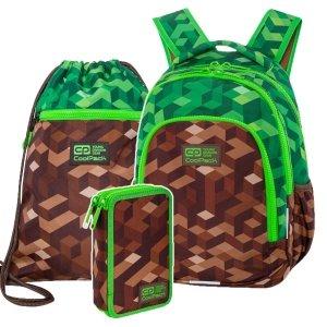 ZESTAW 3 el. Plecak wczesnoszkolny CoolPack PRIME 23 L miejska dżungla, CITY JUNGLE (C25199SET3CZ)