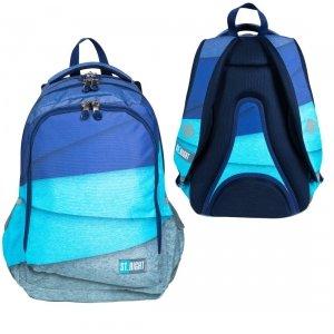 Plecak szkolny młodzieżowy ST.RIGHT w melanżowe paski, MELANGES STRIPES BP57 (26982)