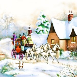 Serwetki świąteczne BOŻONARODZENIOWE Daisy (SD_GW_005501)