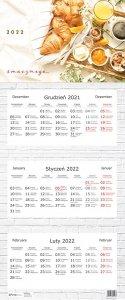 Kalendarz ścienny trójdzielny SMACZNEGO 2022 (01123)