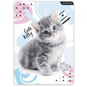 Teczka rysunkowa A4 z gumką STARPAK Cute Kitty KOTEK (473026)