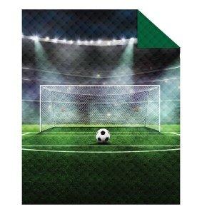 Narzuta dziecięca na łóżko FOOTBALL Piłka nożna 170 x 210 cm (K045)