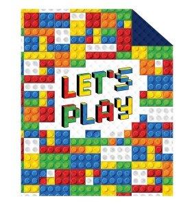 Narzuta dziecięca na łóżko KLOCKI Let's play 170 x 210 cm (K025)
