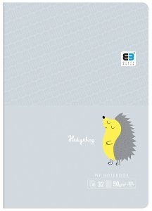 Zeszyt A5 w kolorową linię 16 kartek B&B HEDGEHOG jeżyk (55563)