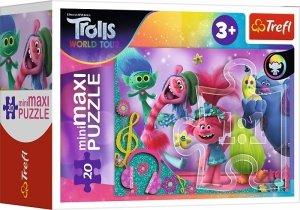 TREFL Puzzle miniMaxi 20 el. TROLLE W świecie muzyki (21095)
