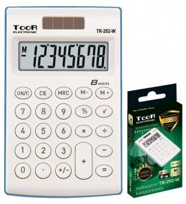 Kalkulator BIUROWY SZKOLNY biały TOOR (120-1418)
