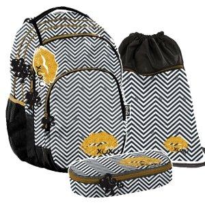 ZESTAW 3 el. Plecak szkolny młodzieżowy BARBIE LIPSTICK Paso (BALP-2706SET3CZ)