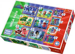 TREFL Puzzle 10 w 1 PJ MASKS Pidżamersi, Dzielni Pidżamersi (90357)