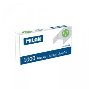Zszywki biurowe 24/6 1000 sztuk, MILAN (80199)