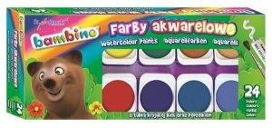 Farby akwarelowe wodne 24 kolorów BAMBINO (28658)