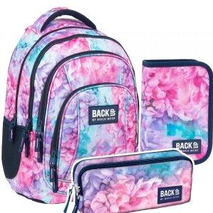 ZESTAW 3 el. Plecak szkolny młodzieżowy BackUP 26 L pastelowy, SOFT (PLB3A02SET3CZ)