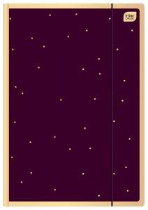 Teczka rysunkowa Satin Gold 3 A4 z gumką ZŁOTE KROPKI (92933)