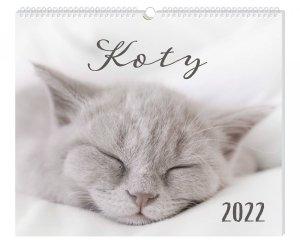 Kalendarz ścienny planszowy KOTY 40 x 33,5 cm 2021 (01161)